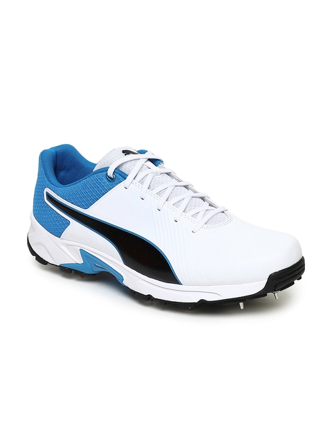 Puma Men White Spike 19.2 Cricket Shoes