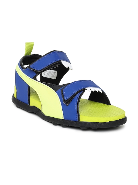 Puma Men Blue & Yellow Shrek PS IDP Sports Sandals