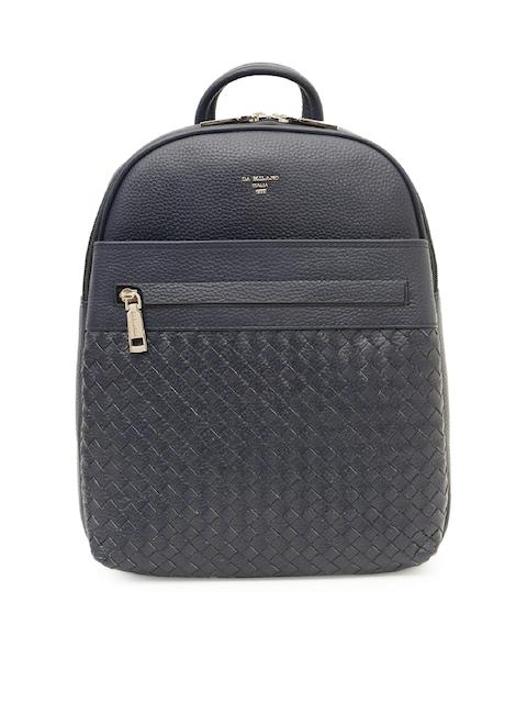 Da Milano Unisex Blue Solid Backpack