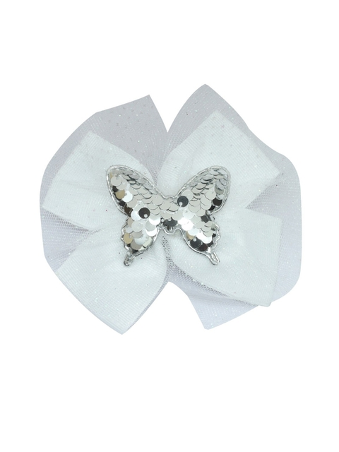 Stoln Girls Sequins Butterfly Bow White Claw Clip
