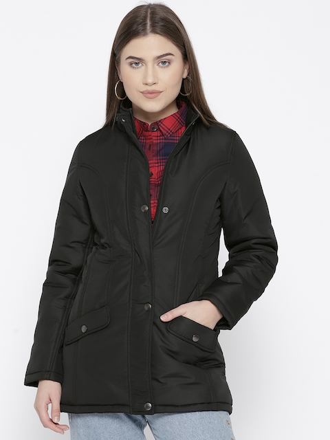 Trufit Women Black Solid Insulator Parka