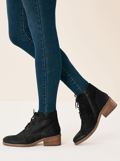 next Women Black Heeled Boots