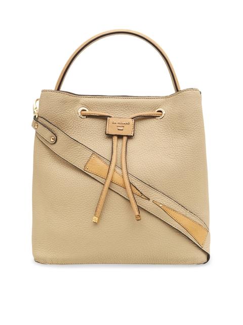 Da Milano Women Beige Solid Handheld Bag