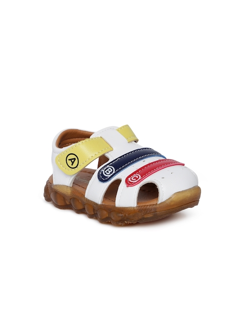 Kittens Boys White Comfort Sandals