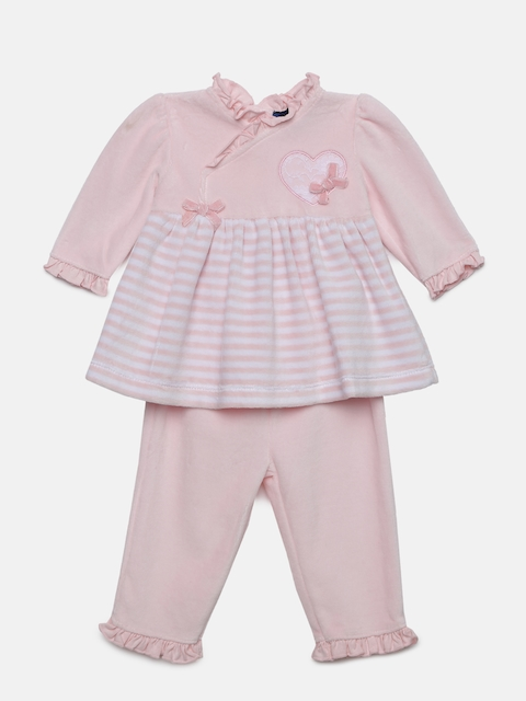 Juniors by Lifestyle Girls Pink Striped Tunic with Leggings
