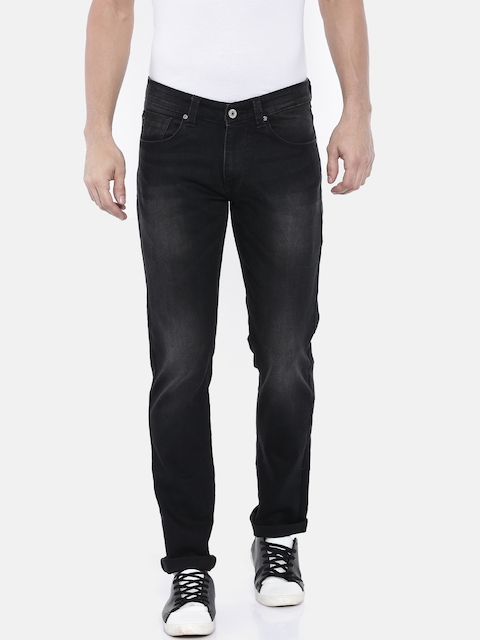 SPYKAR Men Black Rover Slim Fit Low-Rise Clean Look Stretchable Jeans