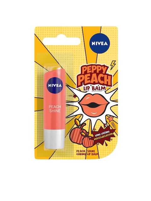 Nivea Peppy Peach Shine Caring Lip Balm