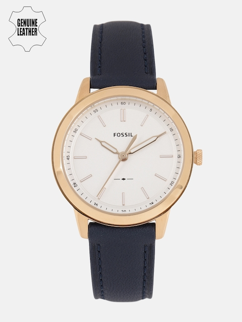 Fossil Men White Genuine Leather Analogue Watch FS5371_OR
