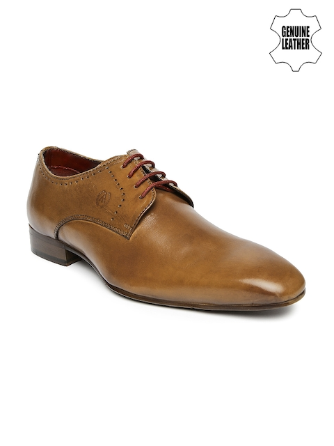 Alberto Torresi Men Brown Genuine Leather Derby Formal Shoes