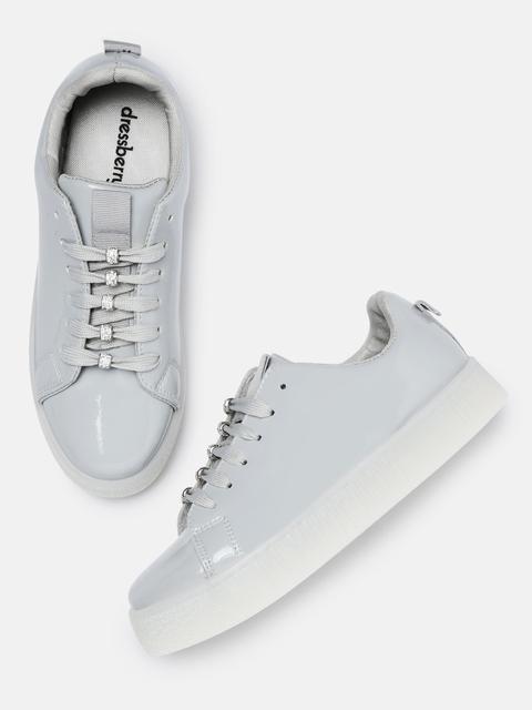 DressBerry Women Grey Sneakers