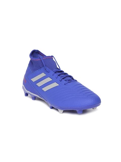 ADIDAS Boys Blue PREDATOR 19.3 Firm Ground Football Shoes