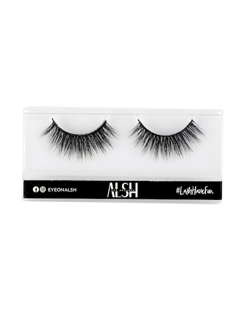 ALSH Women Black Glam Length & Volume Premium 3D Faux Mink Lashes G411