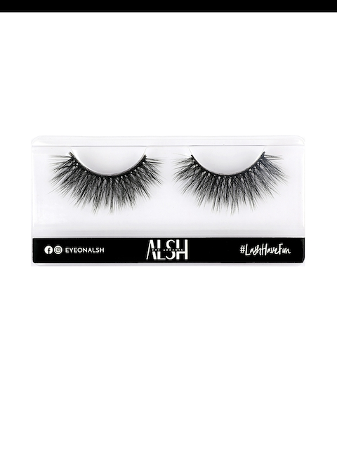 ALSH Women Black Glam Length & Volume Premium 3D Faux Mink Lashes G405