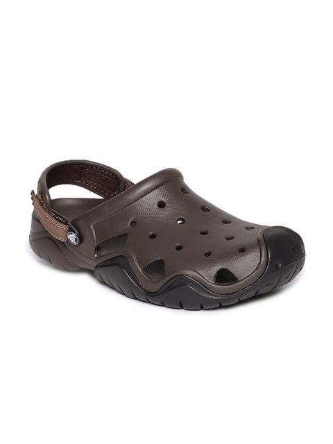 Crocs Men Brown Solid Clogs