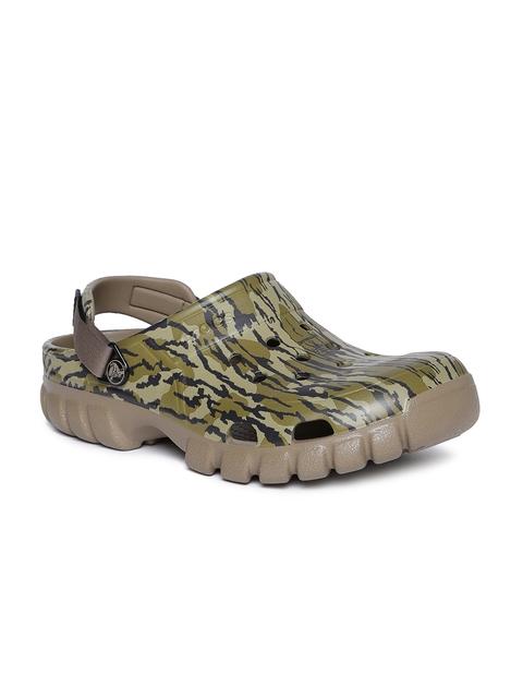 Crocs Unisex Green Printed Clogs