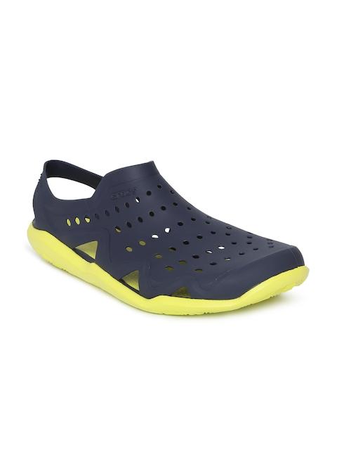 Crocs Men Navy Blue Solid Clogs