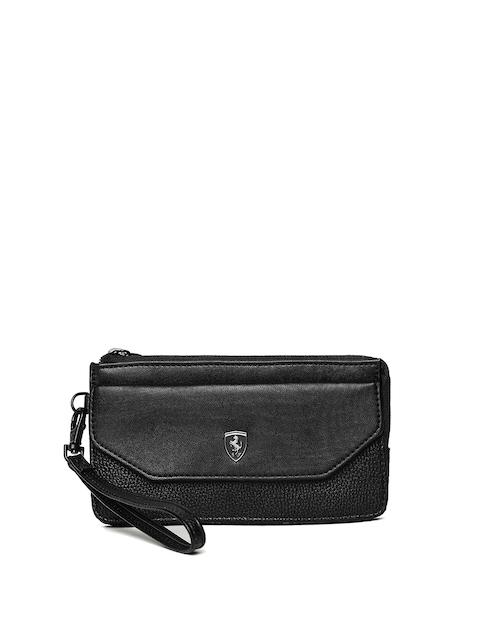 Puma Women Black Solid Zip Around Wallet