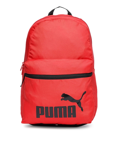 Puma Unisex Red Brand Logo Backpack