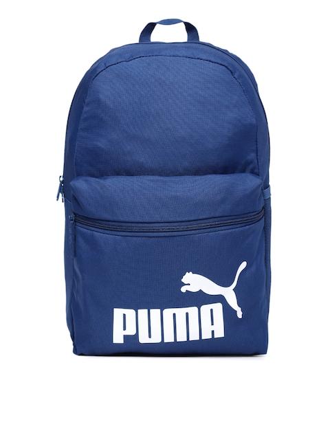 Puma Unisex Blue Brand Logo Phase Backpack