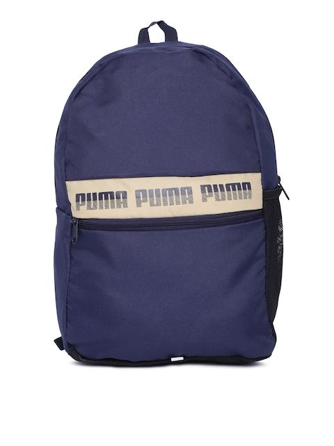 Puma Unisex Navy Blue Brand Logo Phase II Backpack