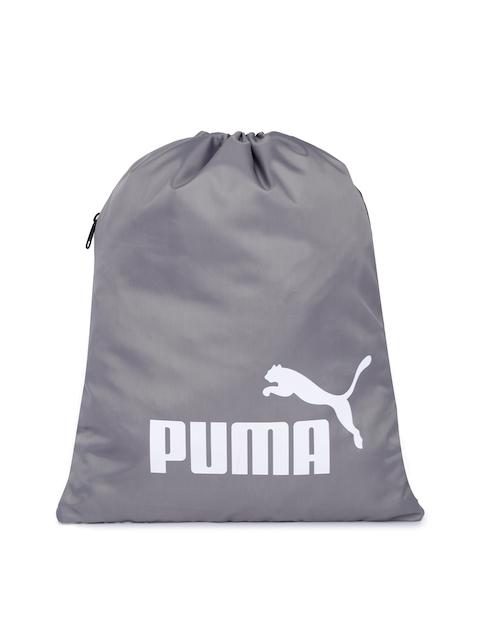 Puma Unisex Grey Brand Logo Classic Gym Sack
