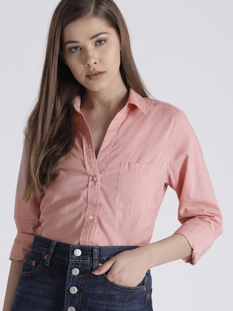 GAP Womens Fitted Boyfriend Shirt