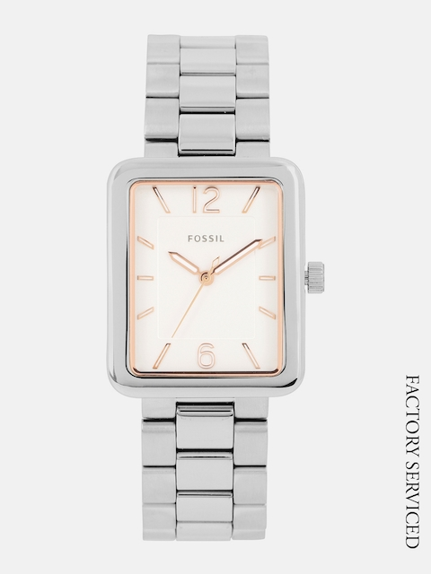 Fossil Women White Factory Serviced Analogue Watch ES4157I