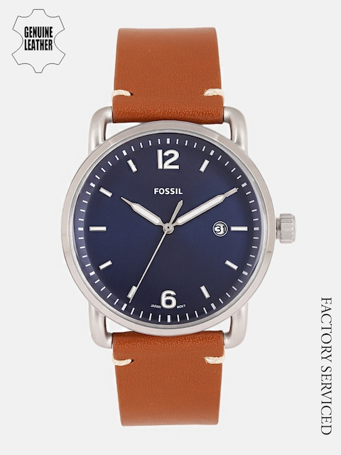 Fossil Men Blue Factory Serviced Genuine Leather Analogue Watch FS5325I_FSS