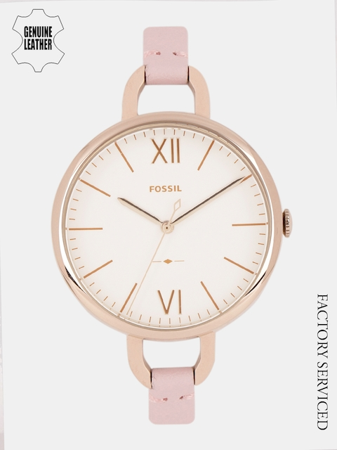 Fossil Women White Factory Serviced Analogue Watch ES4356I