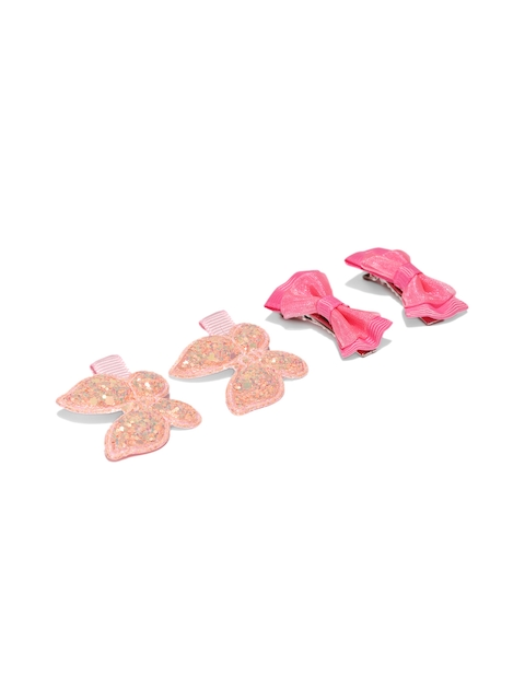 Lil Star by ayesha Set Of 4 Bow-Ties & Butterfly Alligator Hair Clips