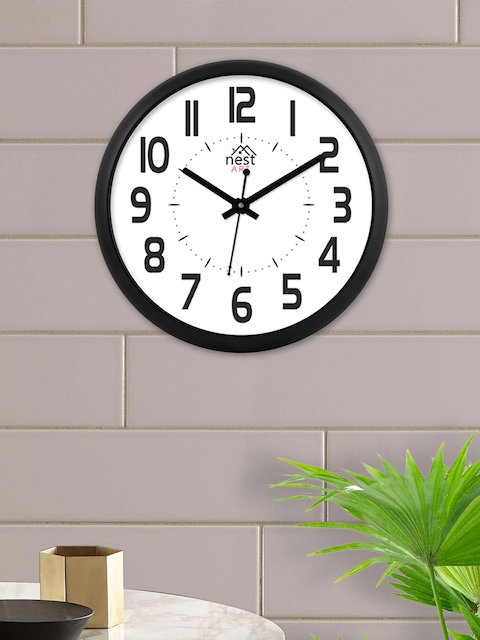 nest ART White Round Solid Analogue Wall Clock