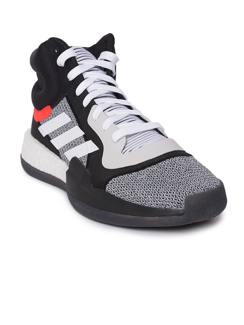 ADIDAS Men Black & White Marquee Boost Basketball Shoes
