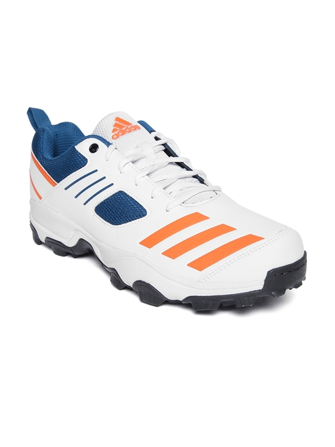 ADIDAS Men White CRI Hase Cricket Shoes