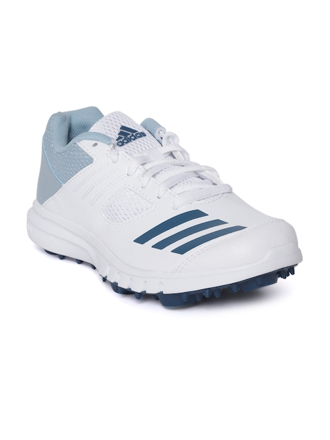 ADIDAS Men White Cricket Shoes