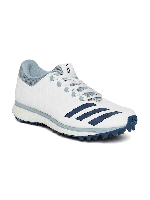 ADIDAS Men White Adizero Boost SL22 Cricket Shoes