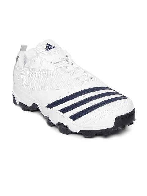 ADIDAS Men White CRI HASE II Cricket Shoes