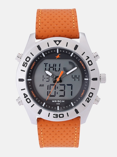 Fastrack Men Grey Analogue and Digital Watch 38034SL01_OR2