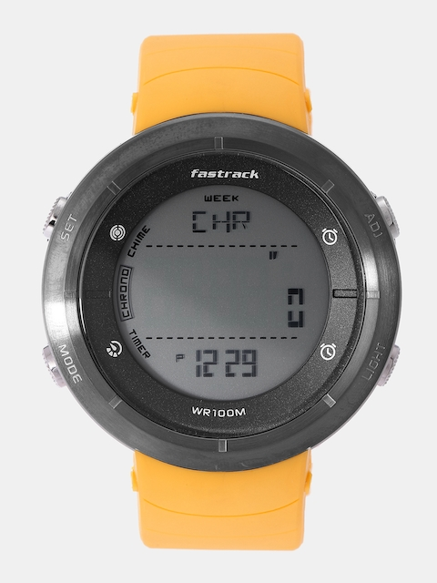 Fastrack Men Yellow Digital Watch 38047PP01