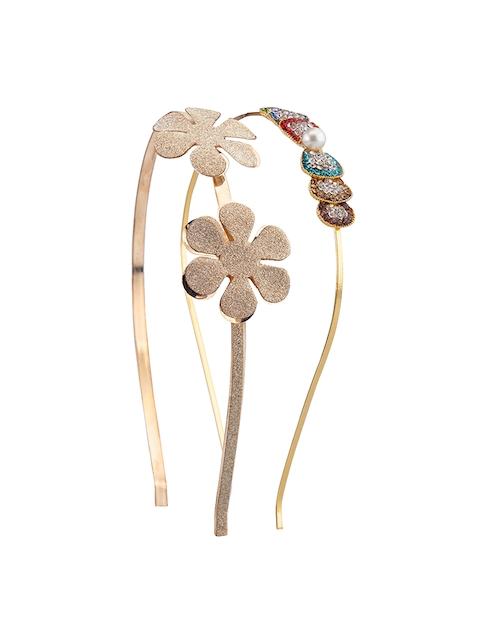 The Magic Wand Girls Set of 2 Glitter Flower & Diamonte Hairbands