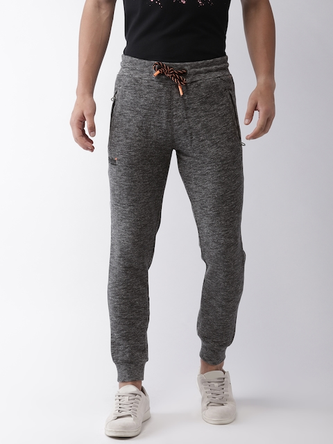 Superdry Men Charcoal Grey Solid Track Pants