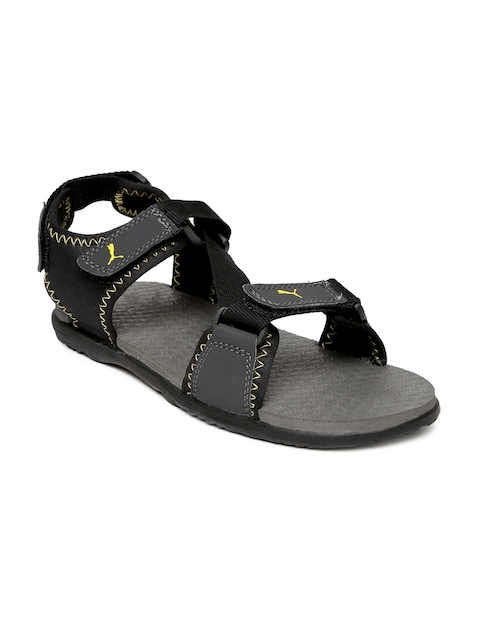Puma Men Grey & Black Royal IDP Sports Sandals