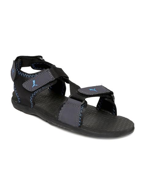 PUMA Unisex Black & Grey Royal DP Sports Sandals