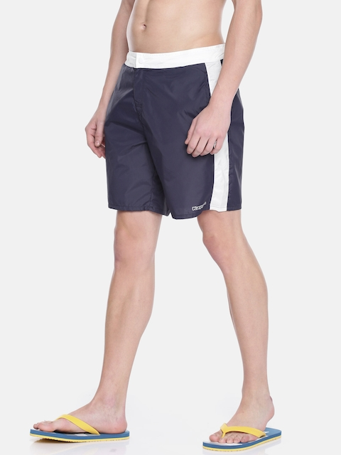 Kappa Men Navy Blue Solid Regular Fit Sports Shorts