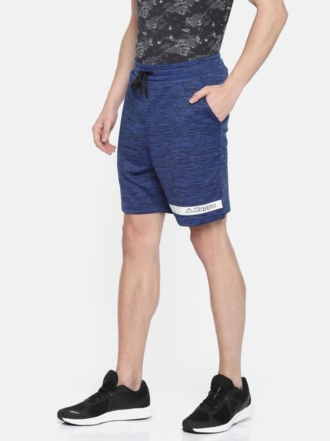 Kappa Men Blue Solid Regular Fit Sports Shorts