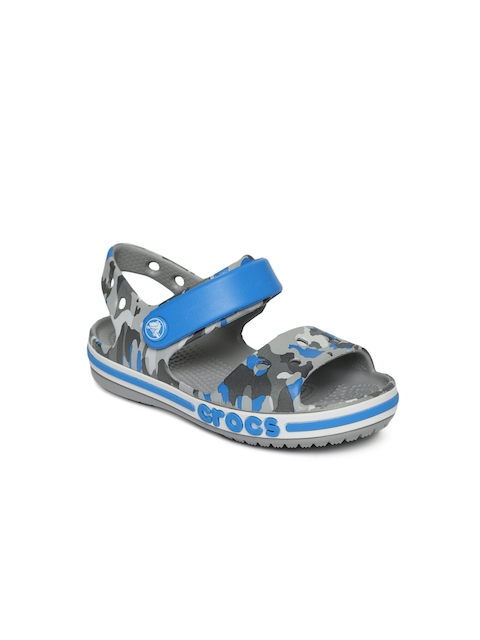 Crocs Kids Blue Printed Sports Sandals