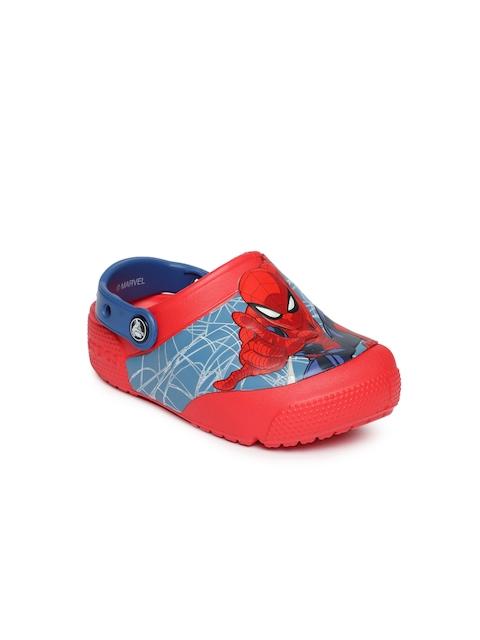 Crocs Boys Red Printed Clogs