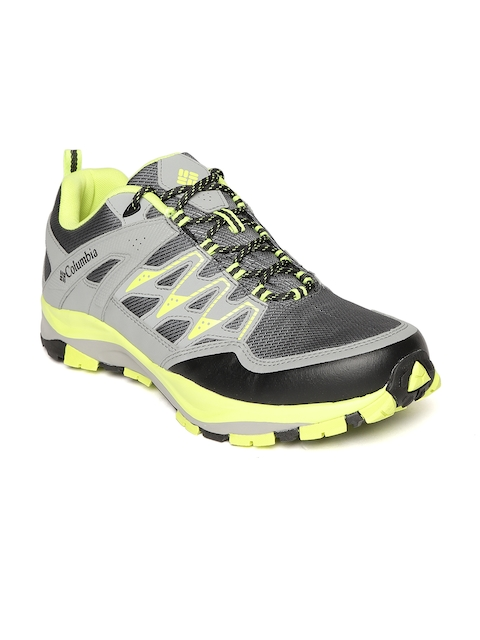 Columbia Men Grey & Yellow Wayfinder Outdry Hiking & Trail Shoes