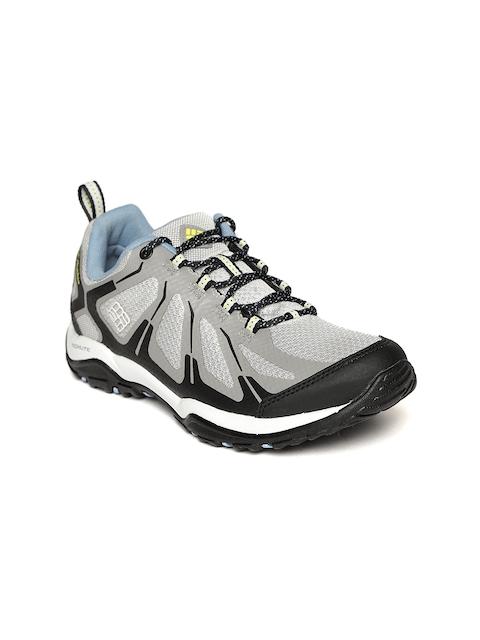 Columbia Women Grey & Black PEAKFREAK XCRSN II XCEL LOW OUTDRY Waterproof Hiking Shoes