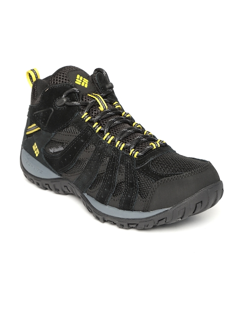 Columbia Men Black REDMOND MID WATERPROOF Hiking Shoes