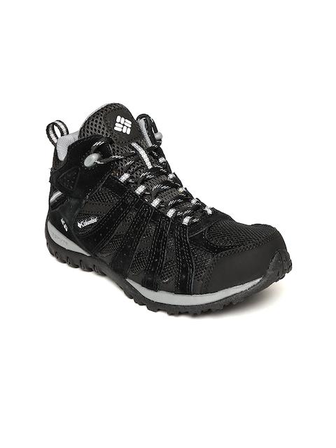 Columbia Women Black REDMOND Mid Waterproof Hiking Shoes